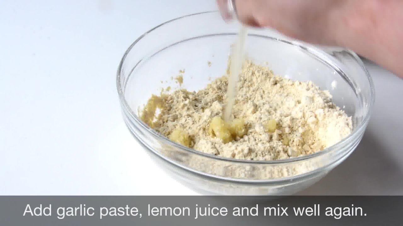 Image of the cooking step-1-3 for Lehsuni Sev - Garlicky Gram Flour Noodles
