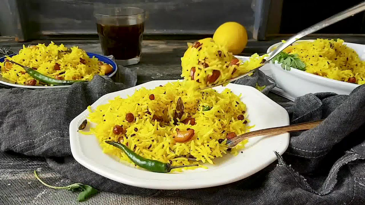 Image of the cooking step-1-7 for Lemon Rice Recipe - How To Make South Indian Lemon Rice