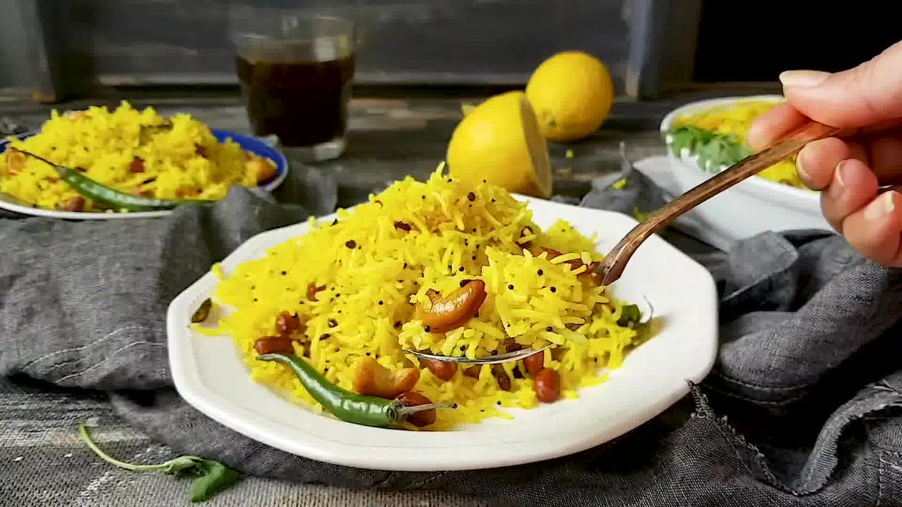 Image of the cooking step-1-8 for Lemon Rice Recipe - How To Make South Indian Lemon Rice