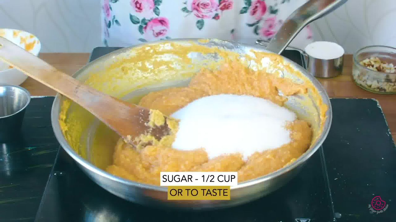 Image of the cooking step-1-8 for Mango Halwa