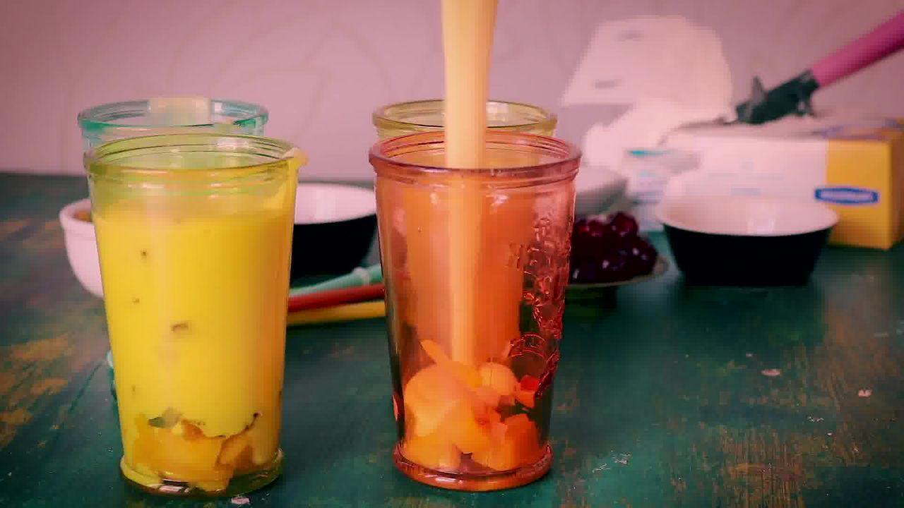 Image of the cooking step-1-3 for Mango Mastani Recipe - Mango Milkshake With Ice Cream