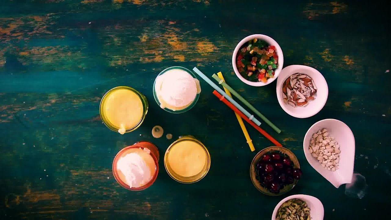 Image of the cooking step-1-4 for Mango Mastani Recipe - Mango Milkshake With Ice Cream