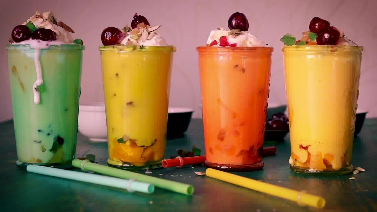 Image of the cooking step-1-6 for Mango Mastani Recipe - Mango Milkshake With Ice Cream