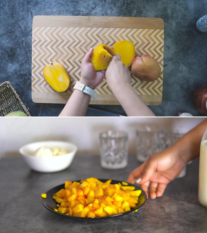 Image of the cooking step-1-1 for Mango Milkshake