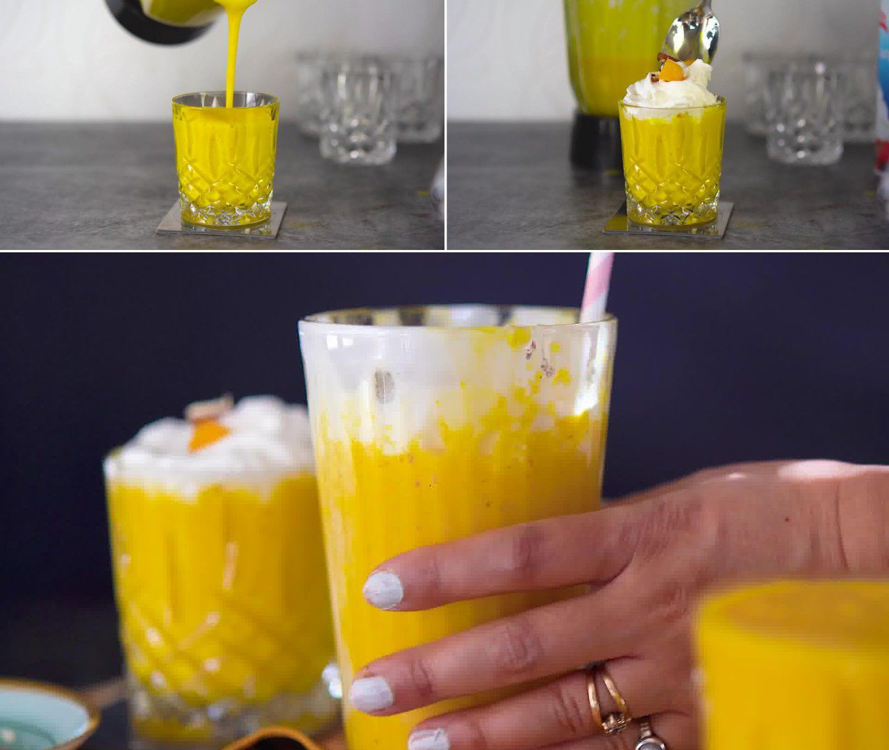 Image of the cooking step-1-5 for Mango Milkshake