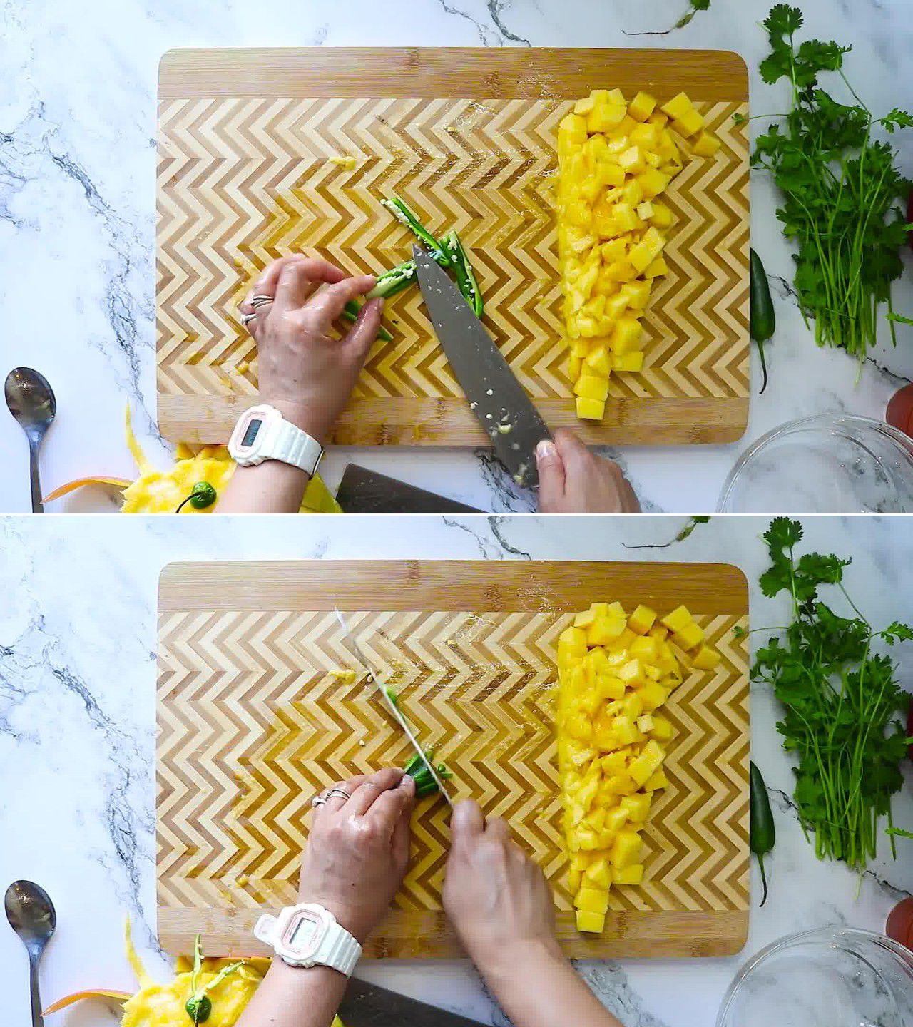 Image of the cooking step-1-2 for Mango Salsa