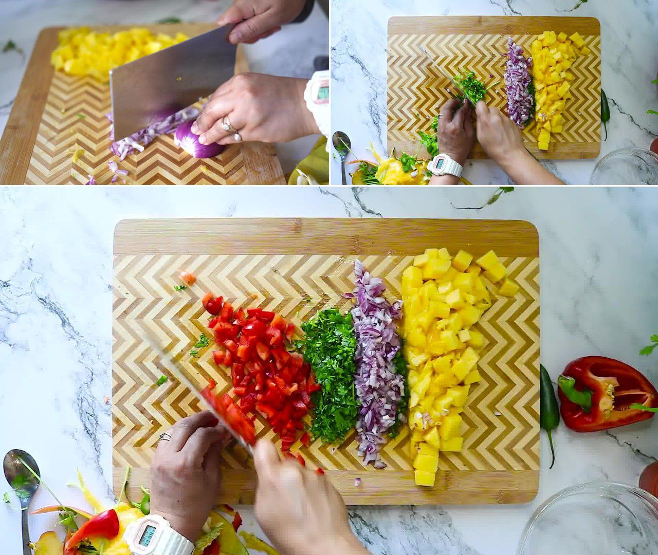 Image of the cooking step-1-3 for Mango Salsa