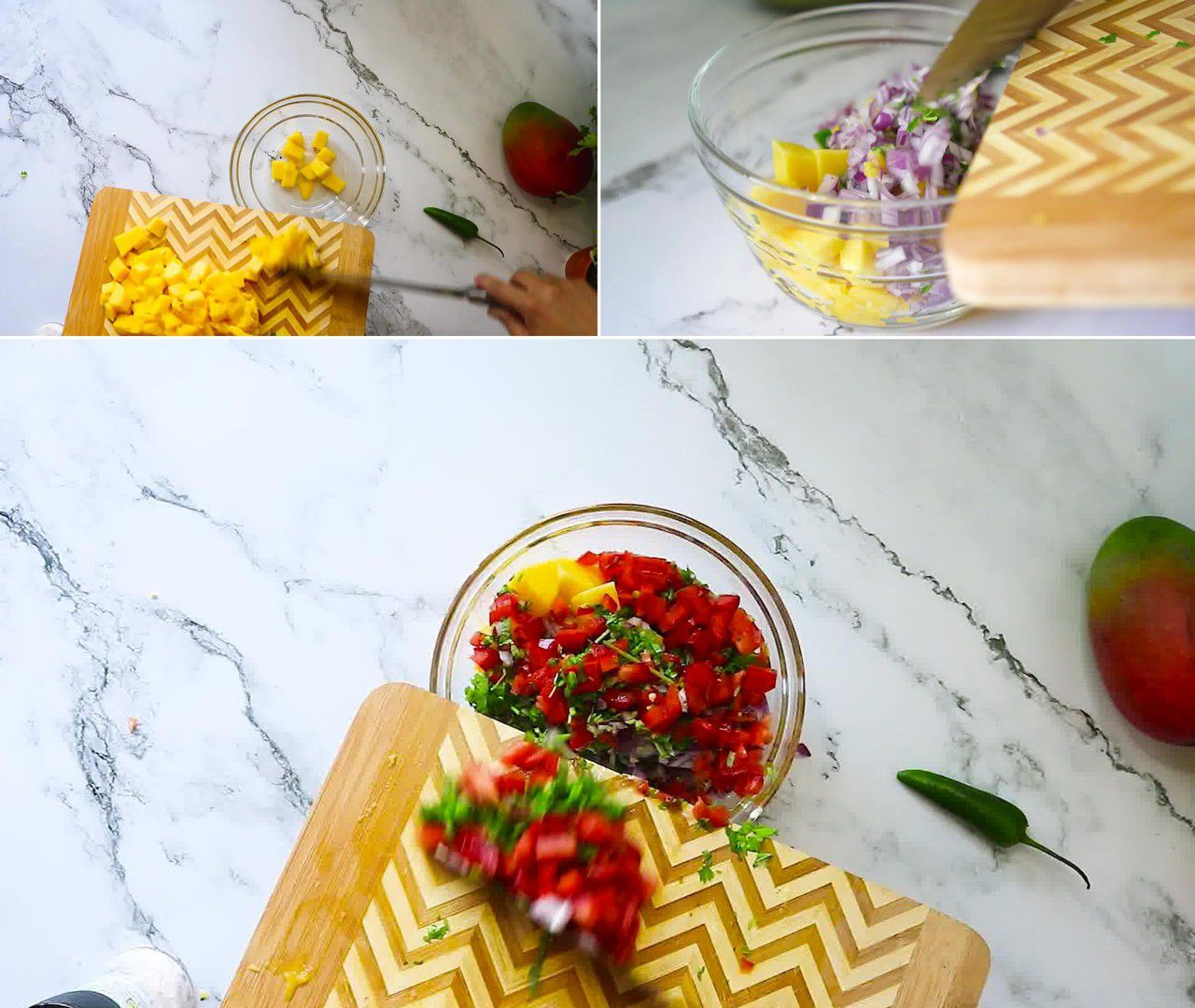 Image of the cooking step-1-4 for Mango Salsa