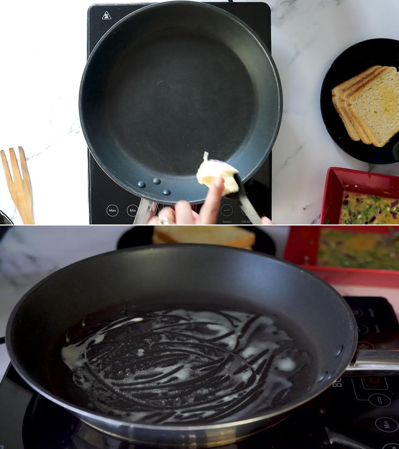 Image of the cooking step-2-1 for Masala French Toast