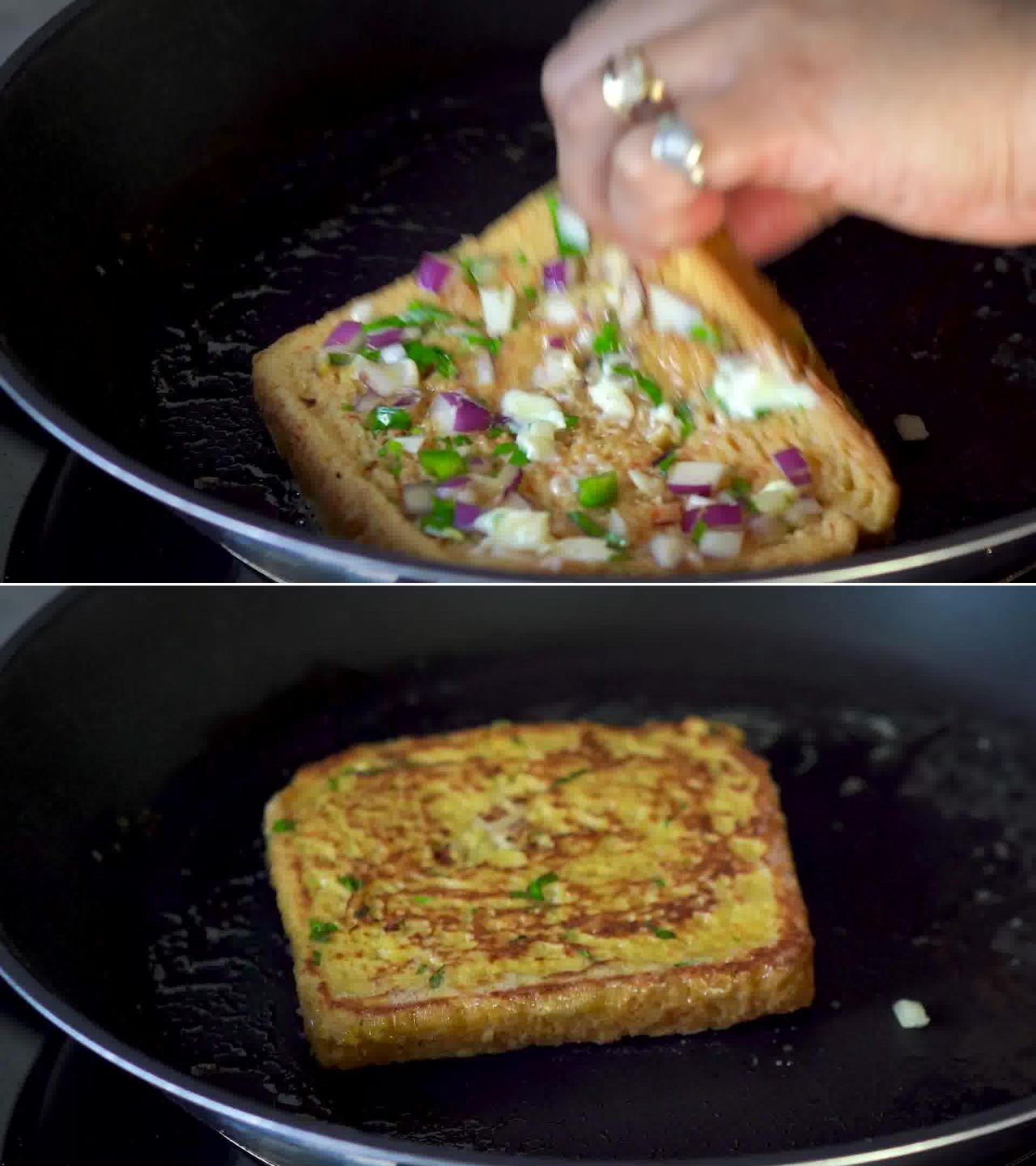 Image of the cooking step-2-5 for Masala French Toast