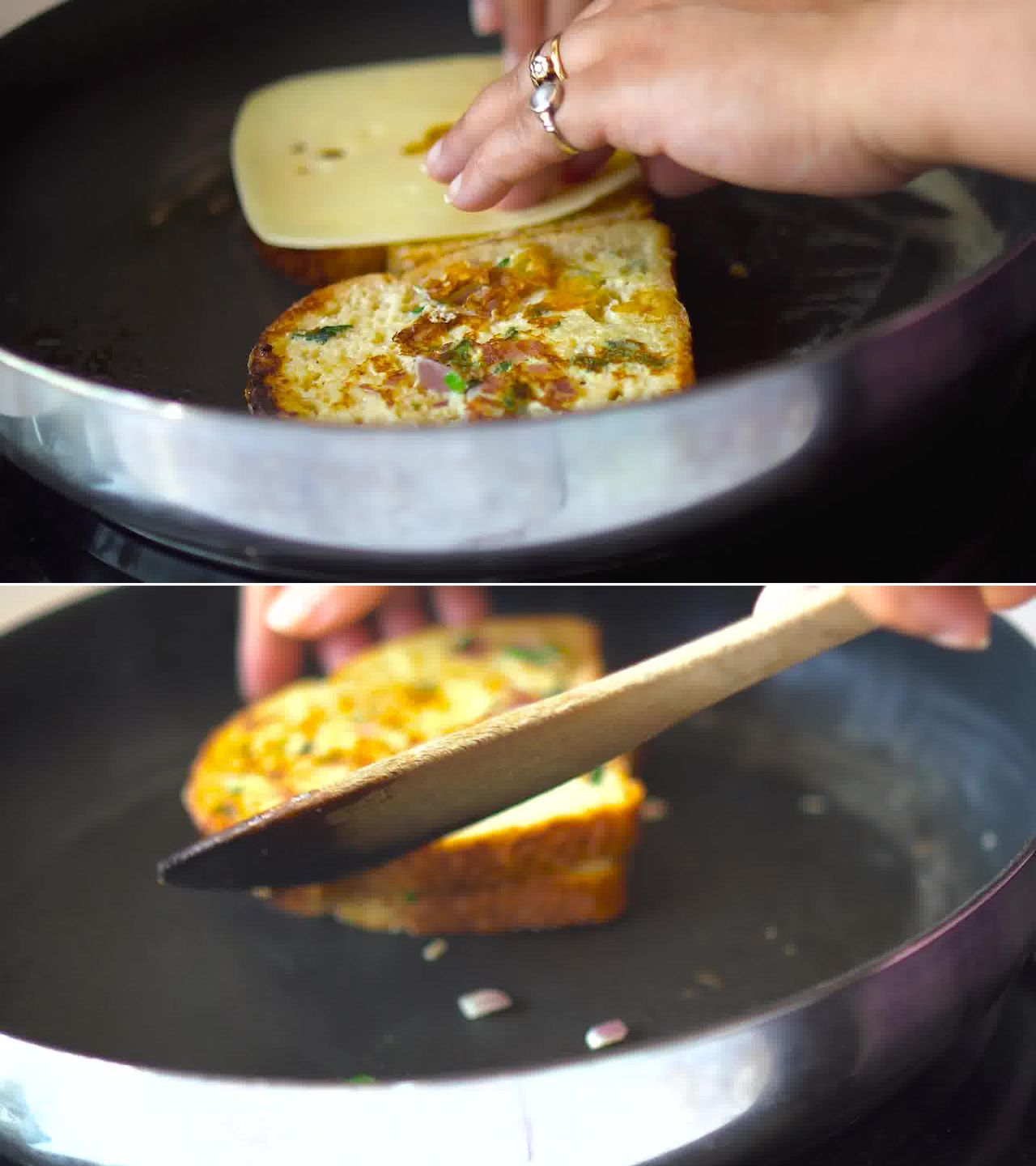 Image of the cooking step-3-3 for Masala French Toast