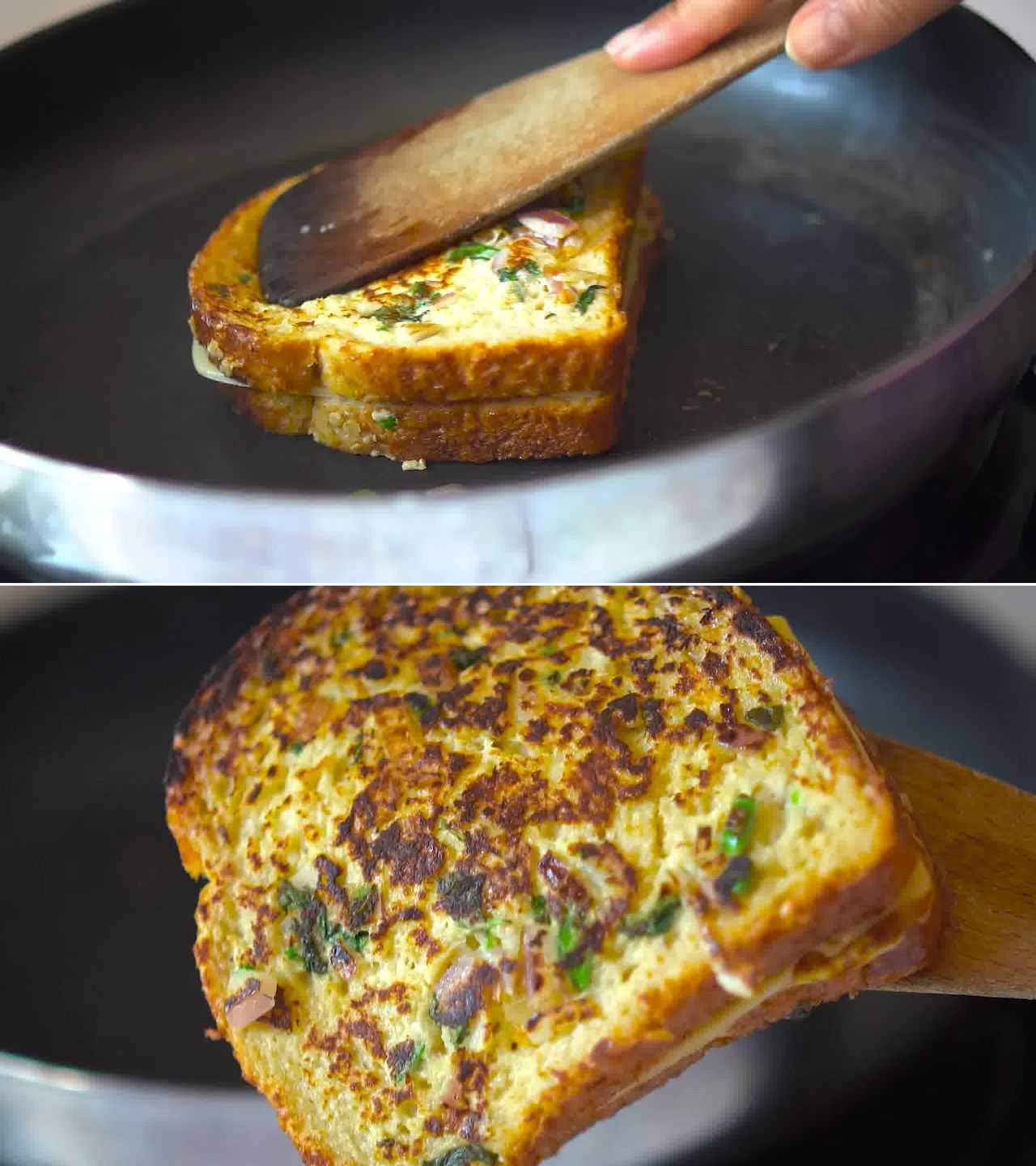Image of the cooking step-3-4 for Masala French Toast