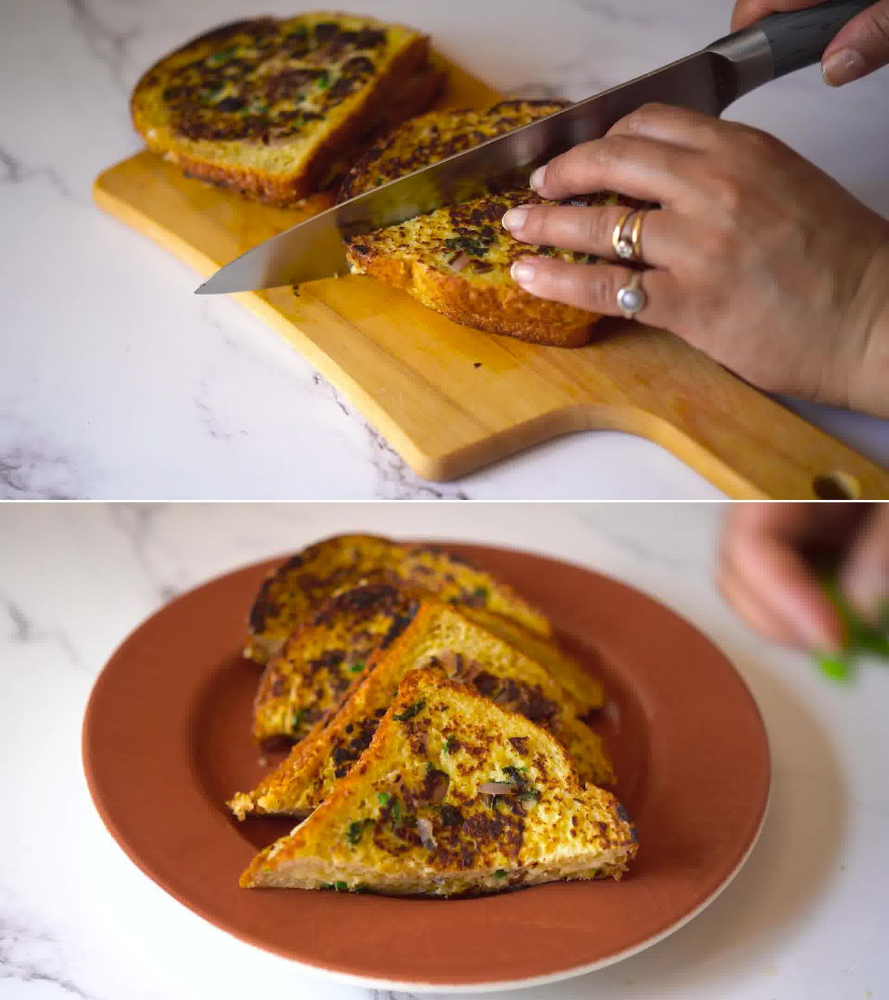 Image of the cooking step-3-5 for Masala French Toast