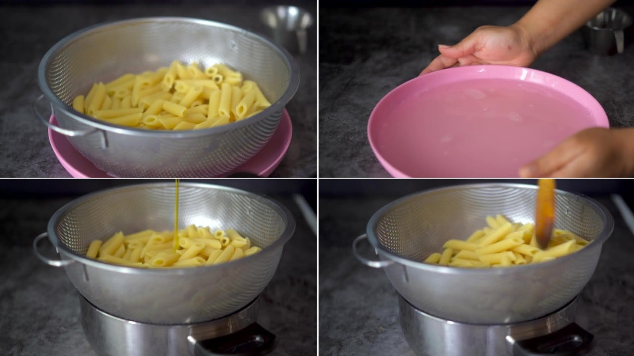 Image of the cooking step-1-3 for Masala Pasta Recipe | Indian Style Pasta