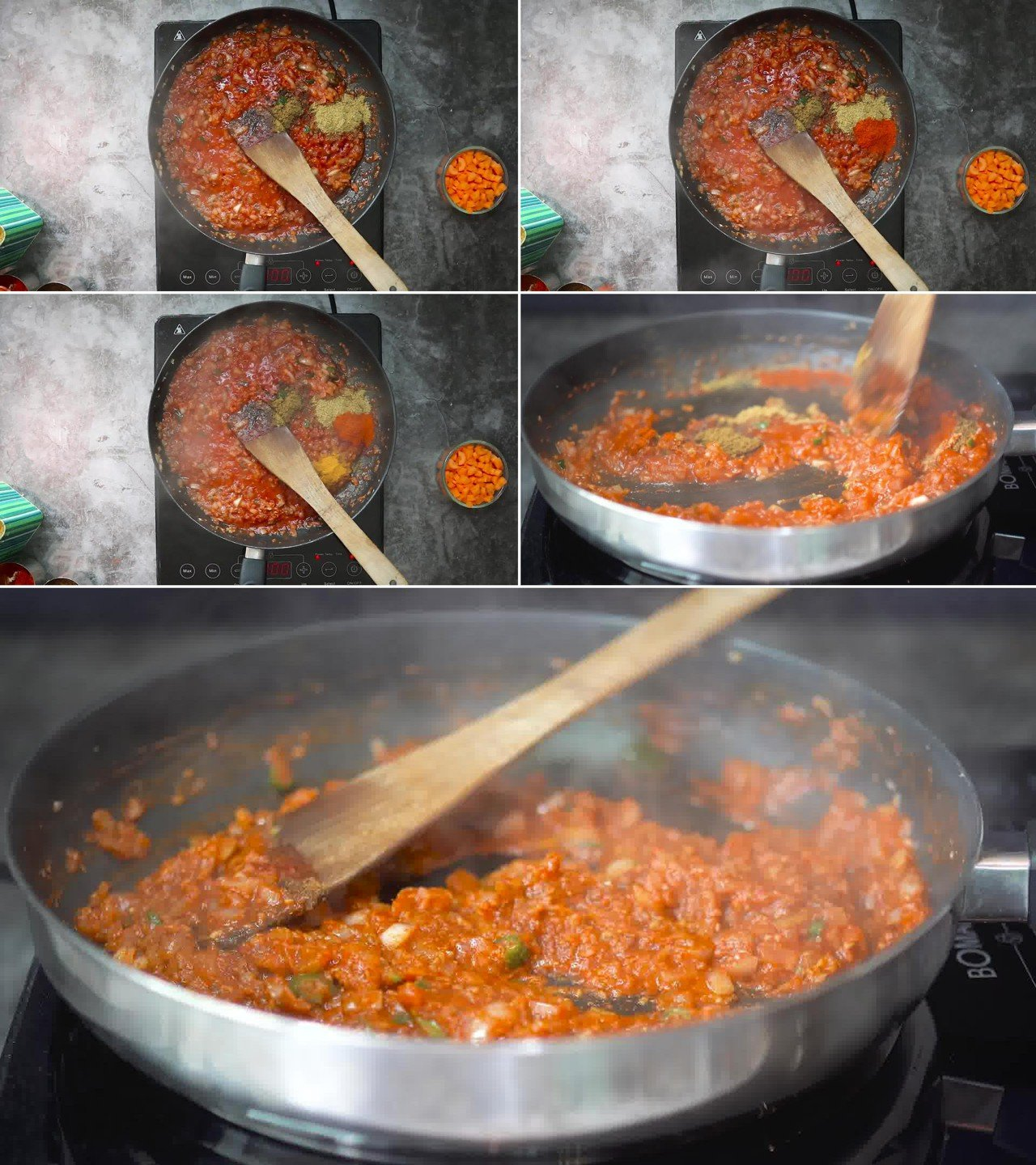 Image of the cooking step-2-4 for Masala Pasta Recipe | Indian Style Pasta
