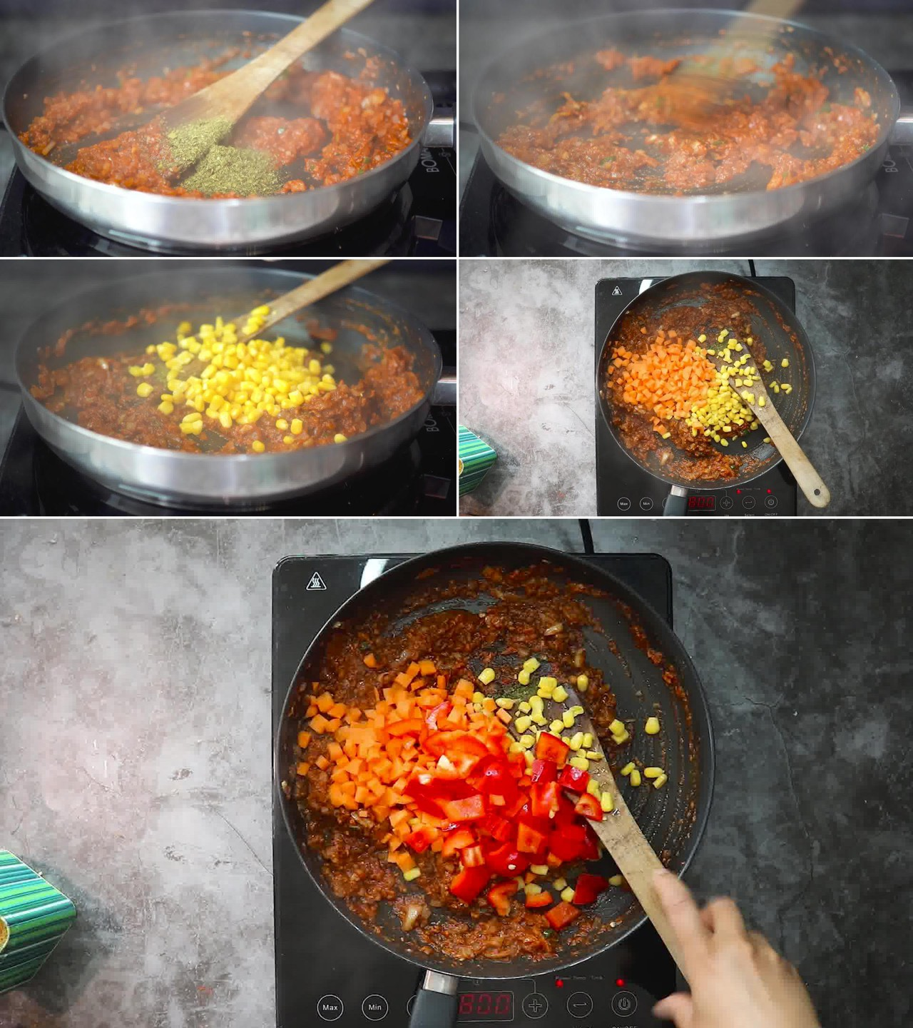 Image of the cooking step-2-5 for Masala Pasta Recipe | Indian Style Pasta