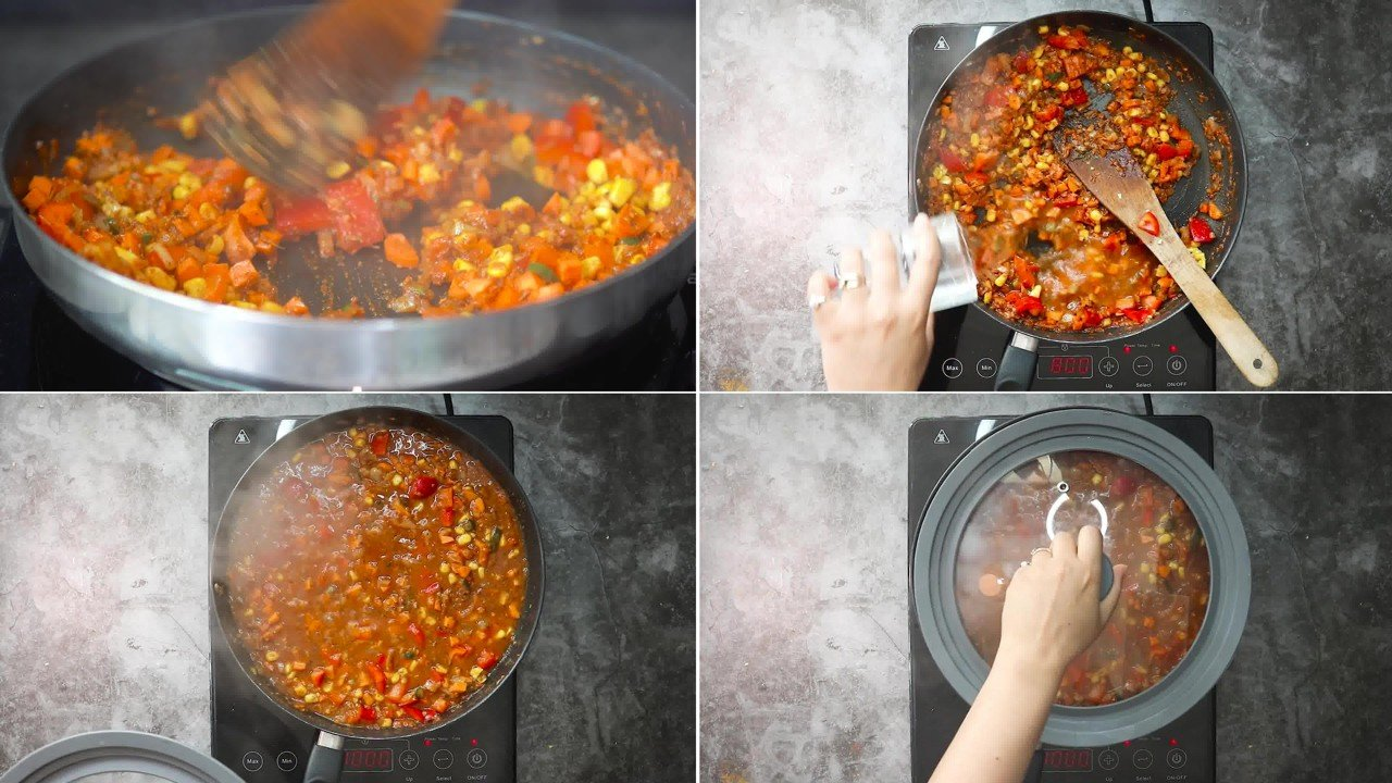 Image of the cooking step-2-6 for Masala Pasta Recipe | Indian Style Pasta