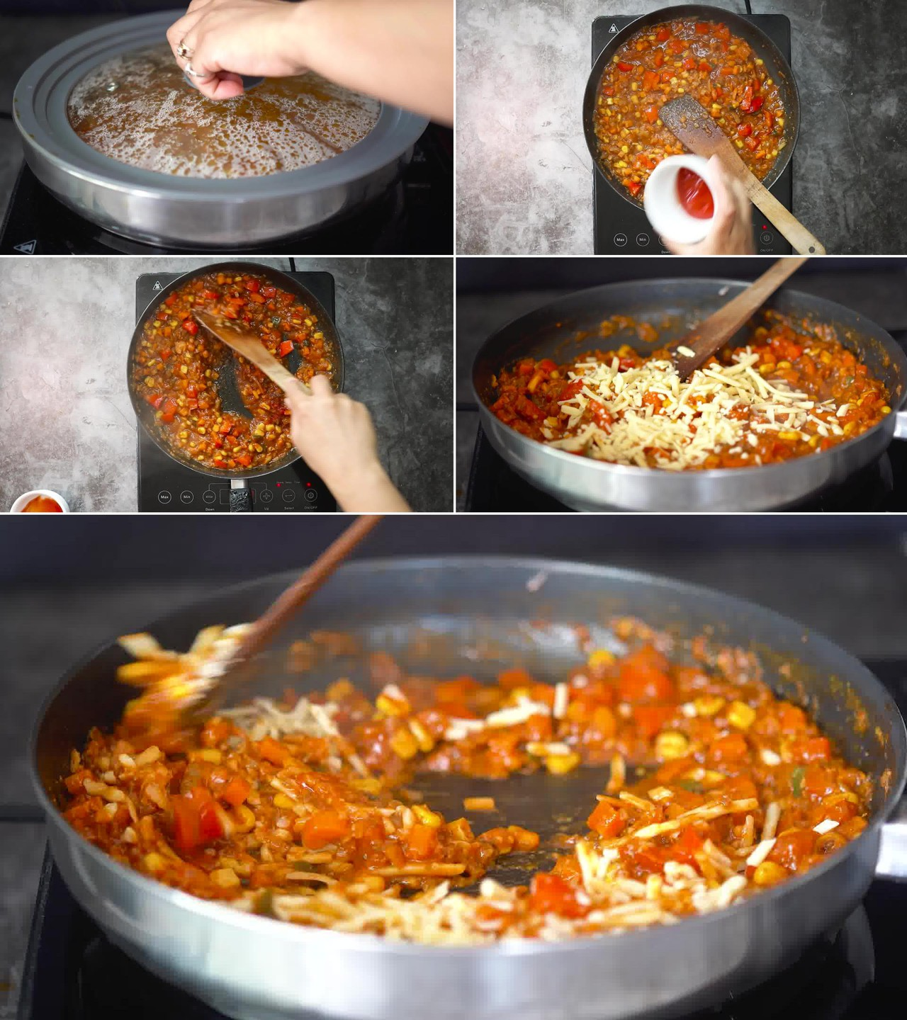 Image of the cooking step-2-7 for Masala Pasta Recipe | Indian Style Pasta