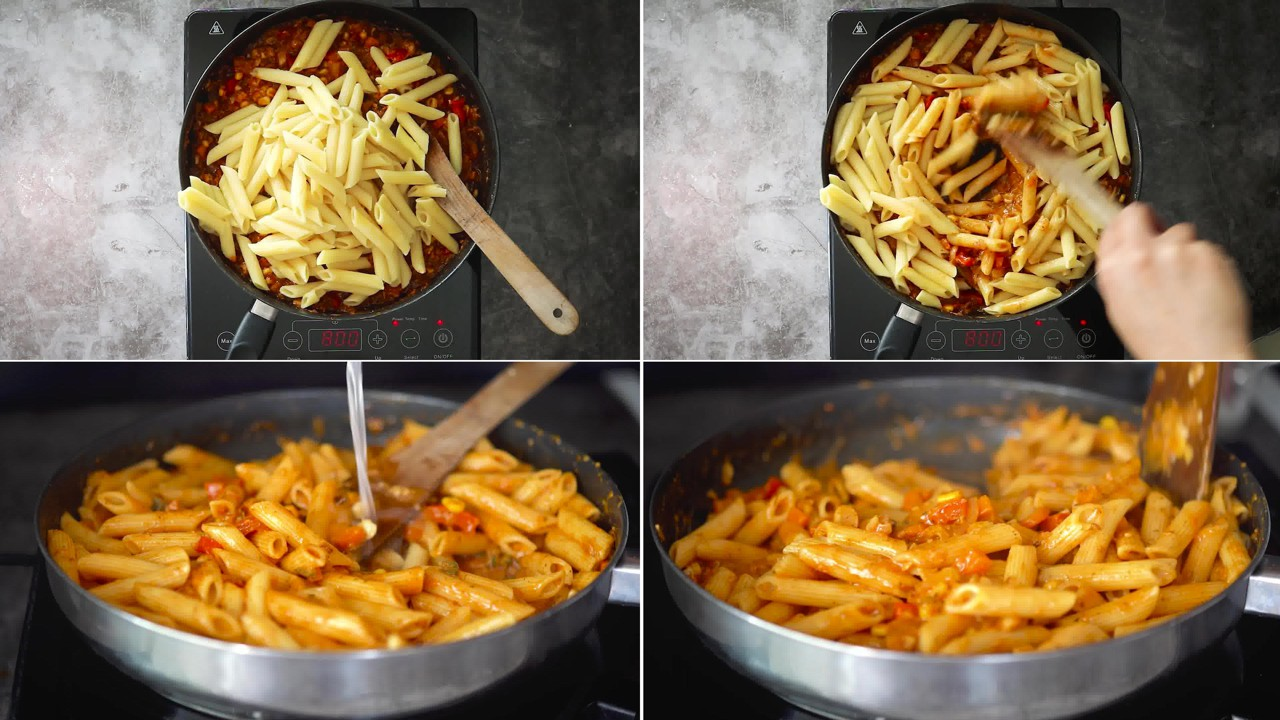Image of the cooking step-2-8 for Masala Pasta Recipe | Indian Style Pasta