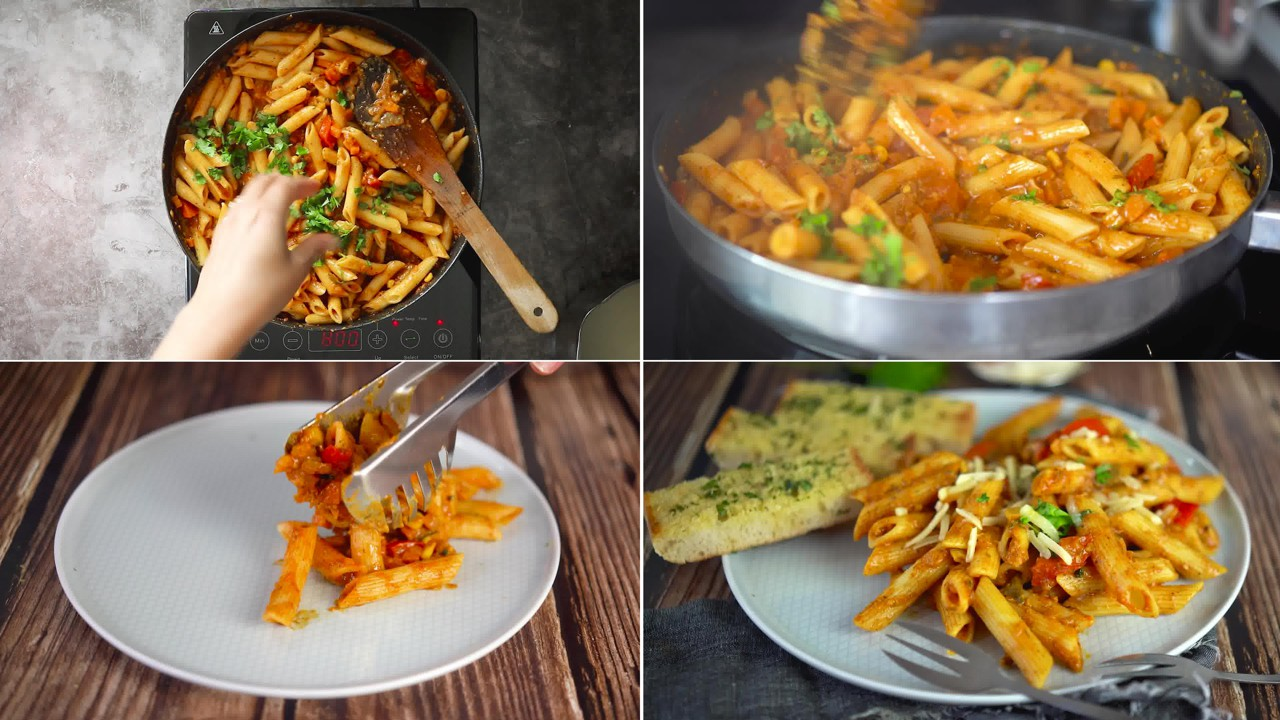 Image of the cooking step-2-9 for Masala Pasta Recipe | Indian Style Pasta