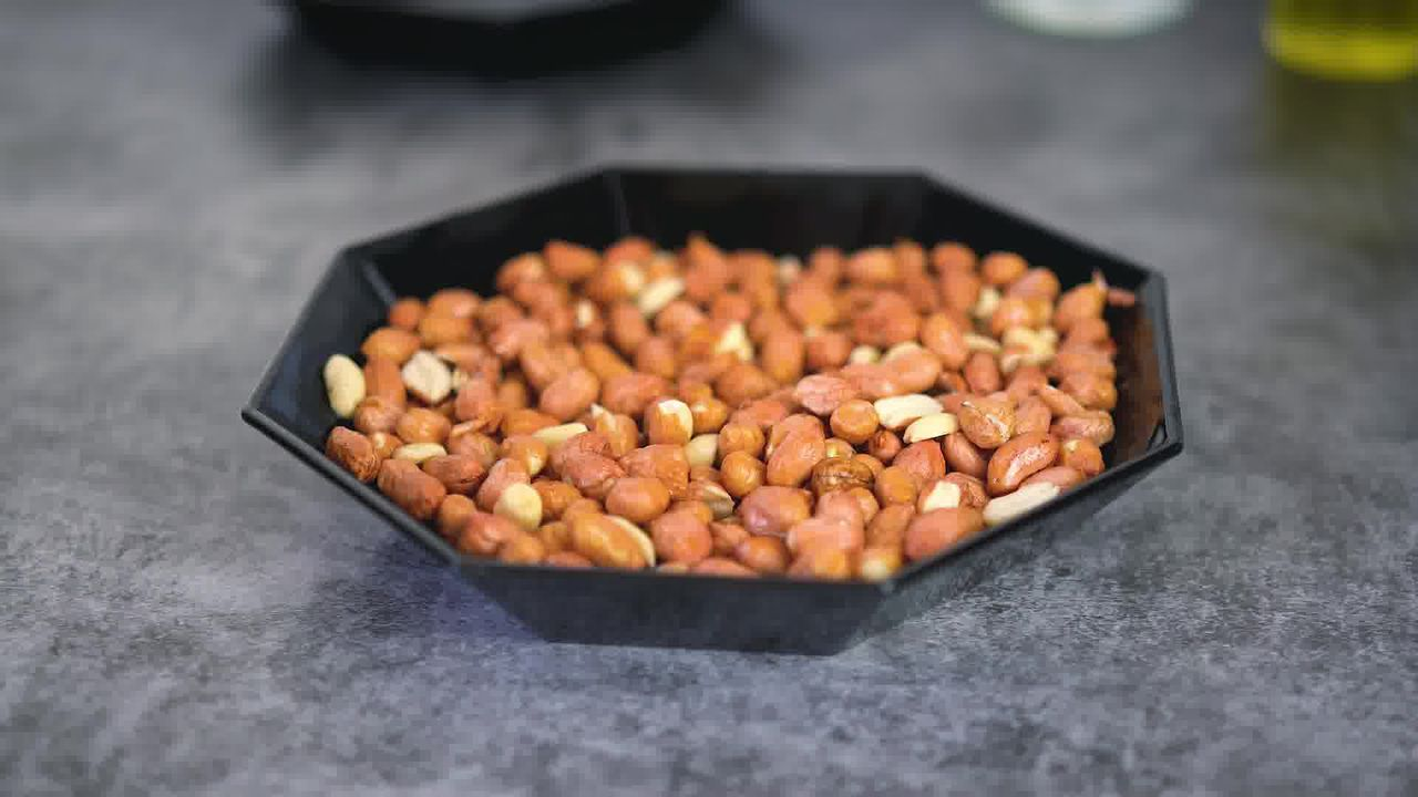 Image of the cooking step-1-3 for Masala Peanuts (Air Fryer, Baked and Fried Recipe)