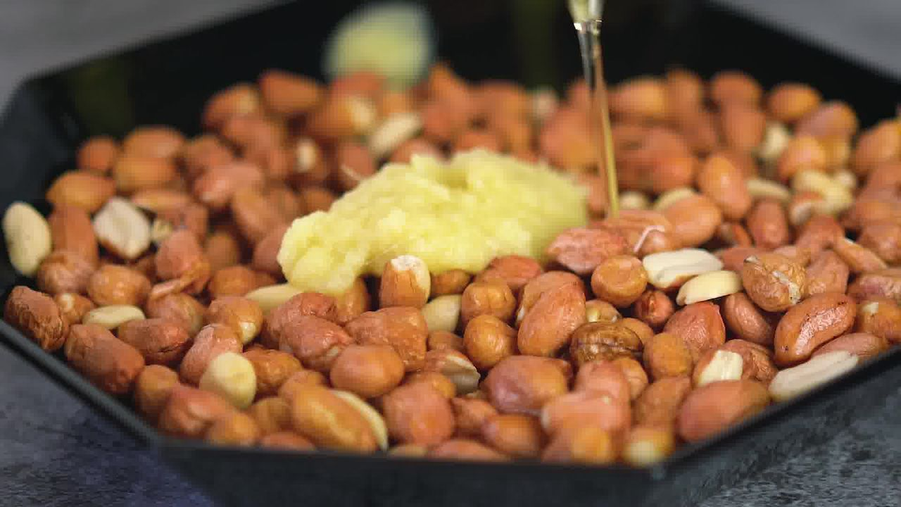 Image of the cooking step-1-4 for Masala Peanuts (Air Fryer, Baked and Fried Recipe)