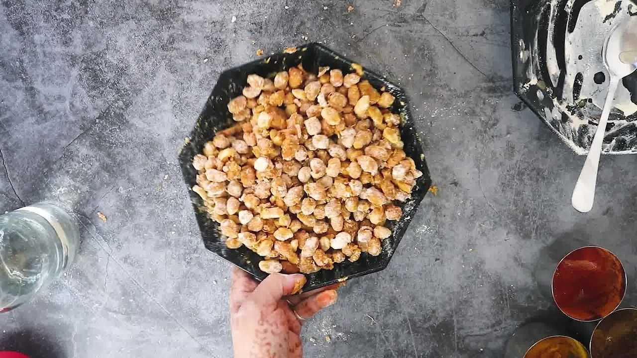 Image of the cooking step-3-6 for Masala Peanuts (Air Fryer, Baked and Fried Recipe)