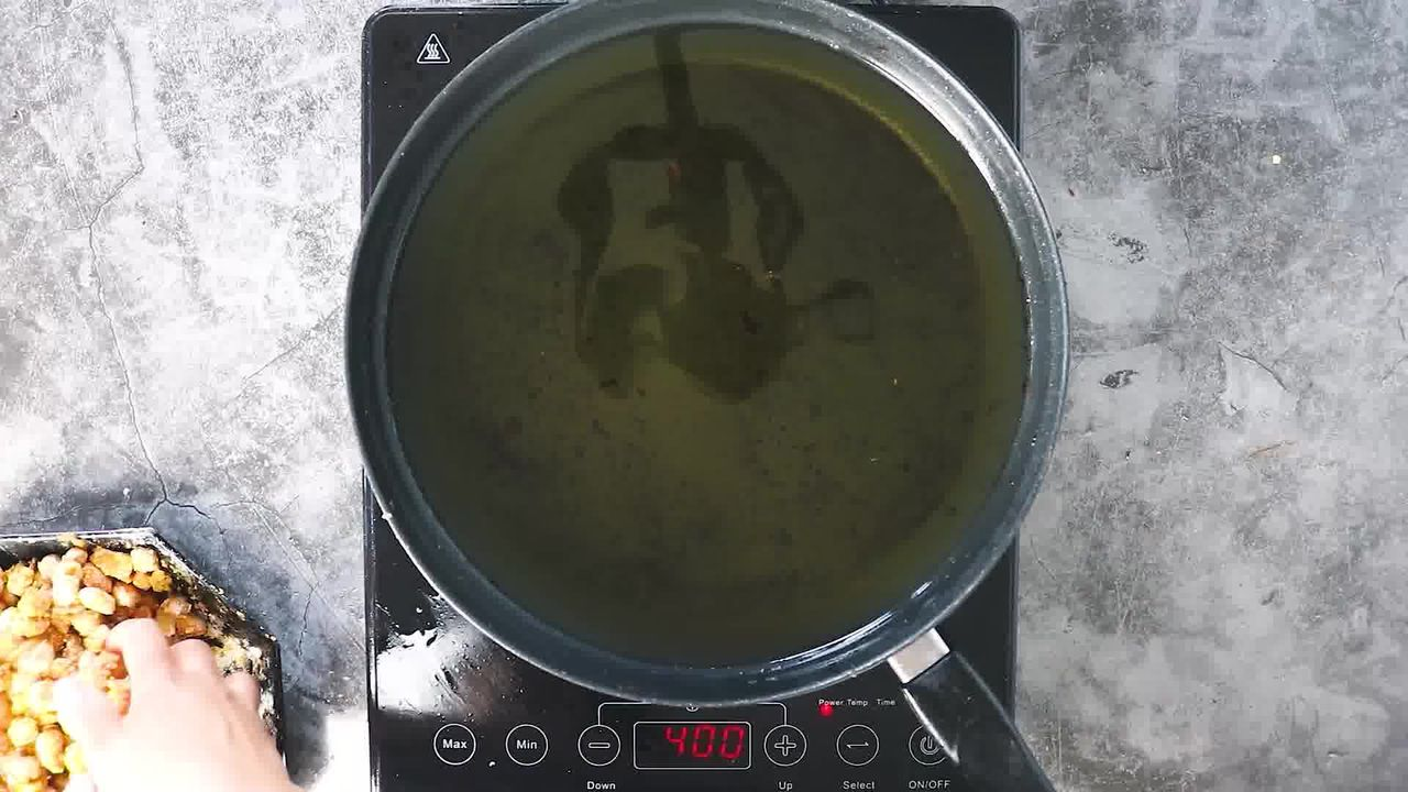 Image of the cooking step-4-1 for Masala Peanuts (Air Fryer, Baked and Fried Recipe)
