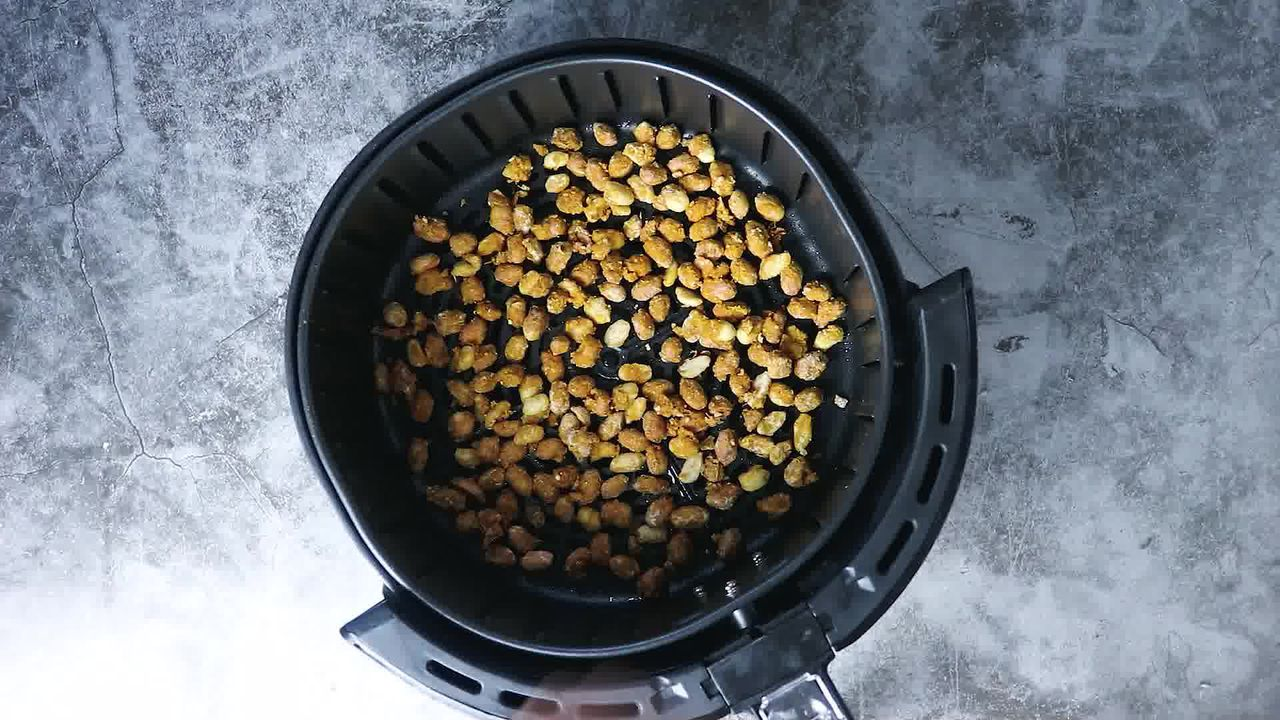 Image of the cooking step-5-2 for Masala Peanuts (Air Fryer, Baked and Fried Recipe)