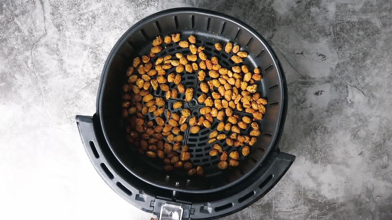 Image of the cooking step-5-7 for Masala Peanuts (Air Fryer, Baked and Fried Recipe)