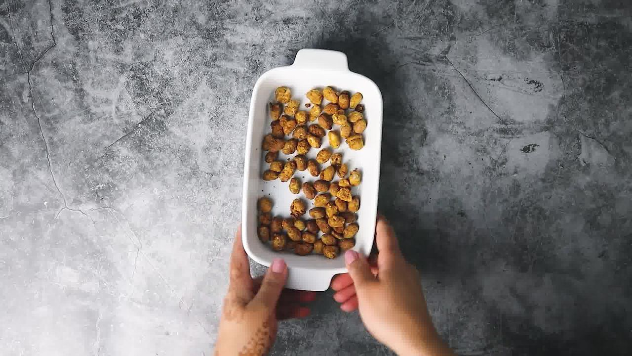 Image of the cooking step-6-4 for Masala Peanuts (Air Fryer, Baked and Fried Recipe)