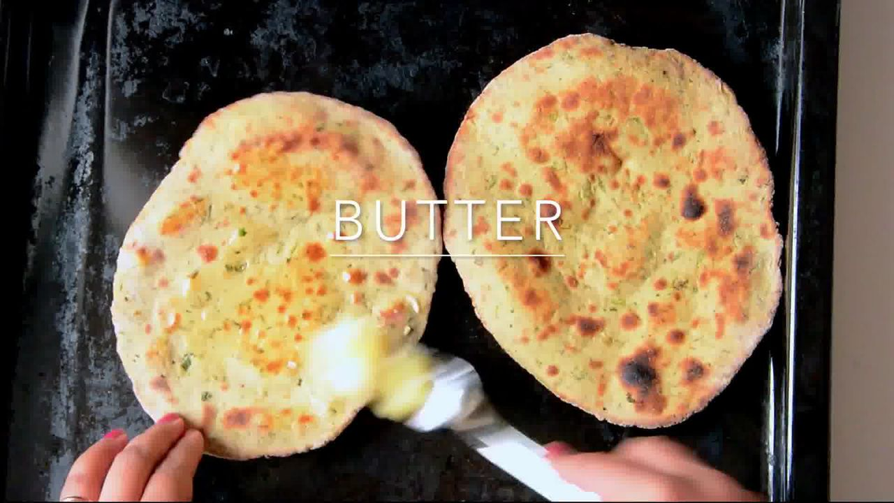 Image of the cooking step-1-10 for Mint Coriander Tandoori Roti Recipe