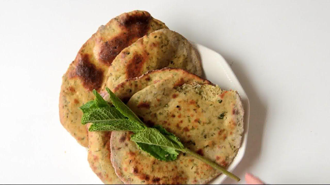 Image of the cooking step-1-11 for Mint Coriander Tandoori Roti Recipe