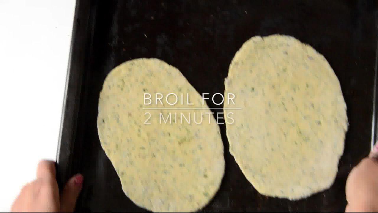 Image of the cooking step-1-8 for Mint Coriander Tandoori Roti Recipe