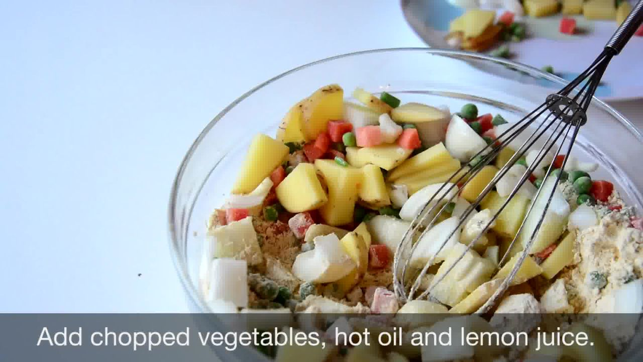 Image of the cooking step-1-3 for Mix Vegetable Pakora | Video Recipe