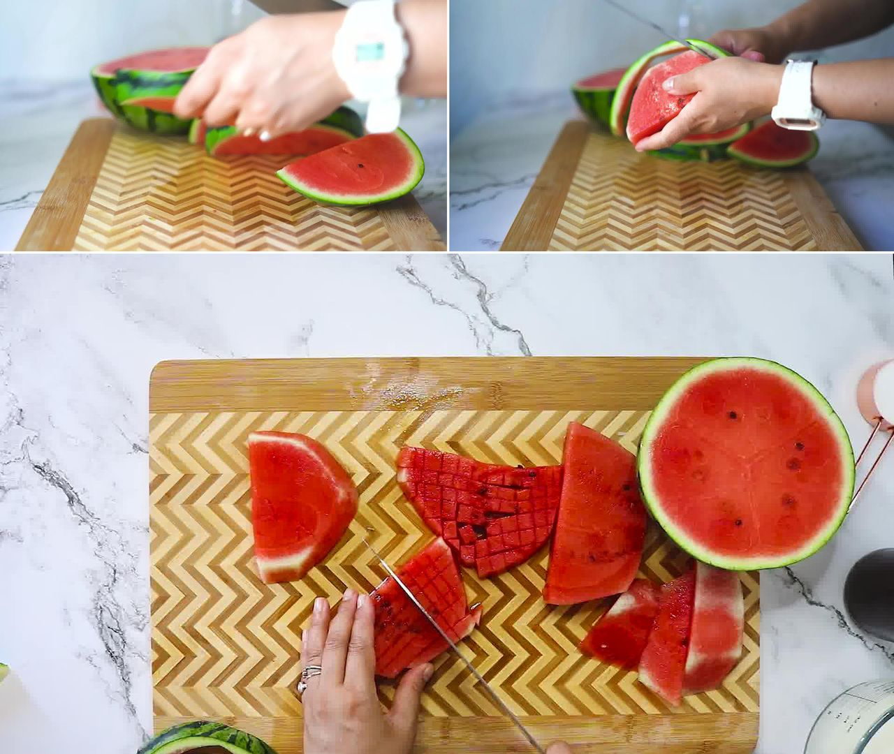 Image of the cooking step-1-1 for Mohabbat Ka Sharbat - Watermelon Rose Drink