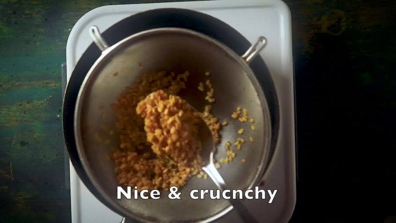 Image of the cooking step-2-3 for Moong Dal Namkeen - Salted Crunchy Fried Moong Dal Snack