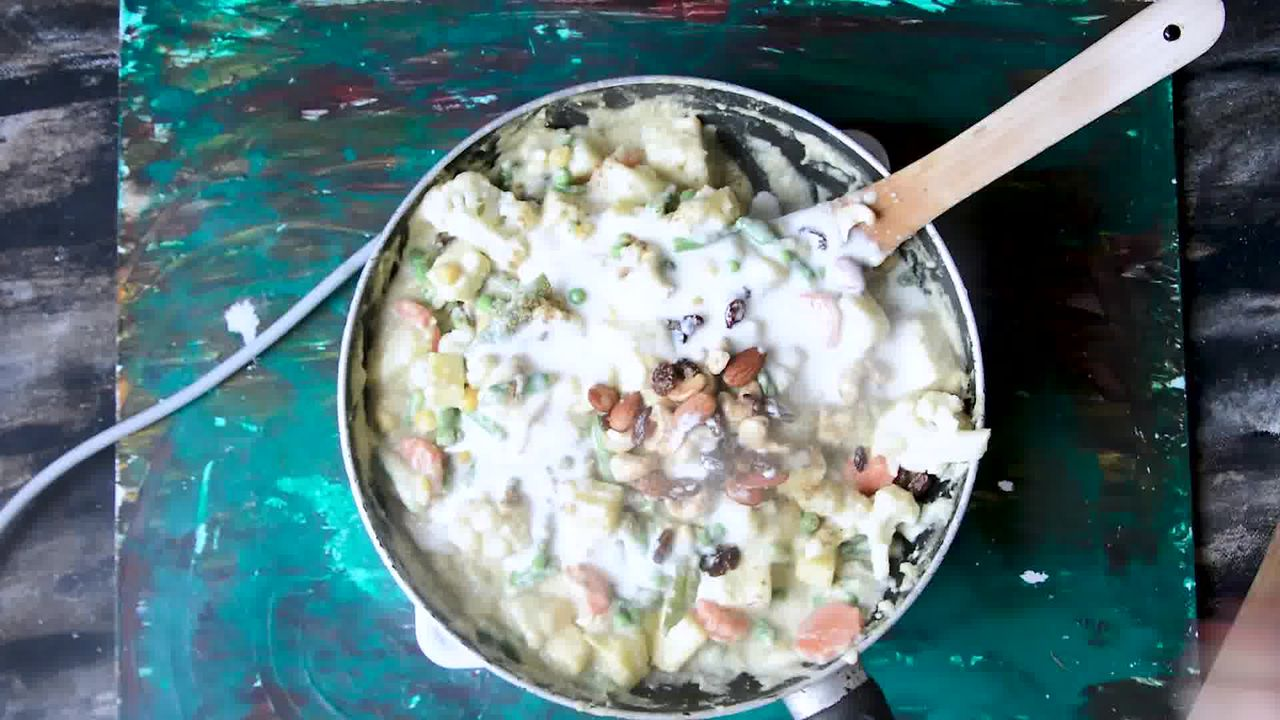Image of the cooking step-4-11 for Mughlai Navratan Korma - White Gravy Navratan Kurma