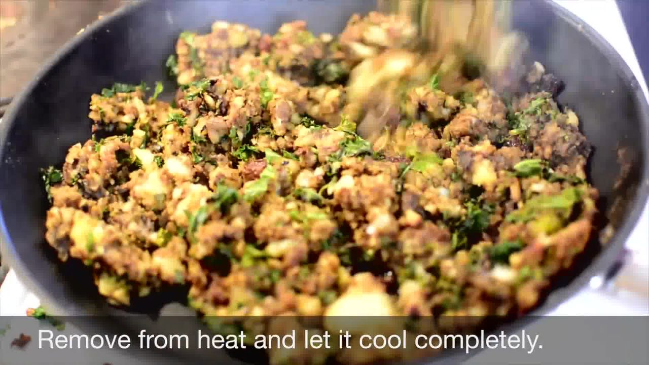 Image of the cooking step-1-10 for Mushroom Kale Stuffed Paratha (Video)