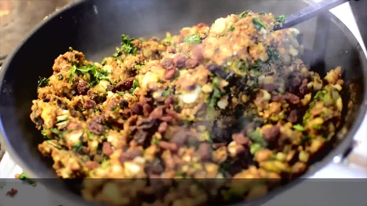 Image of the cooking step-1-9 for Mushroom Kale Stuffed Paratha (Video)