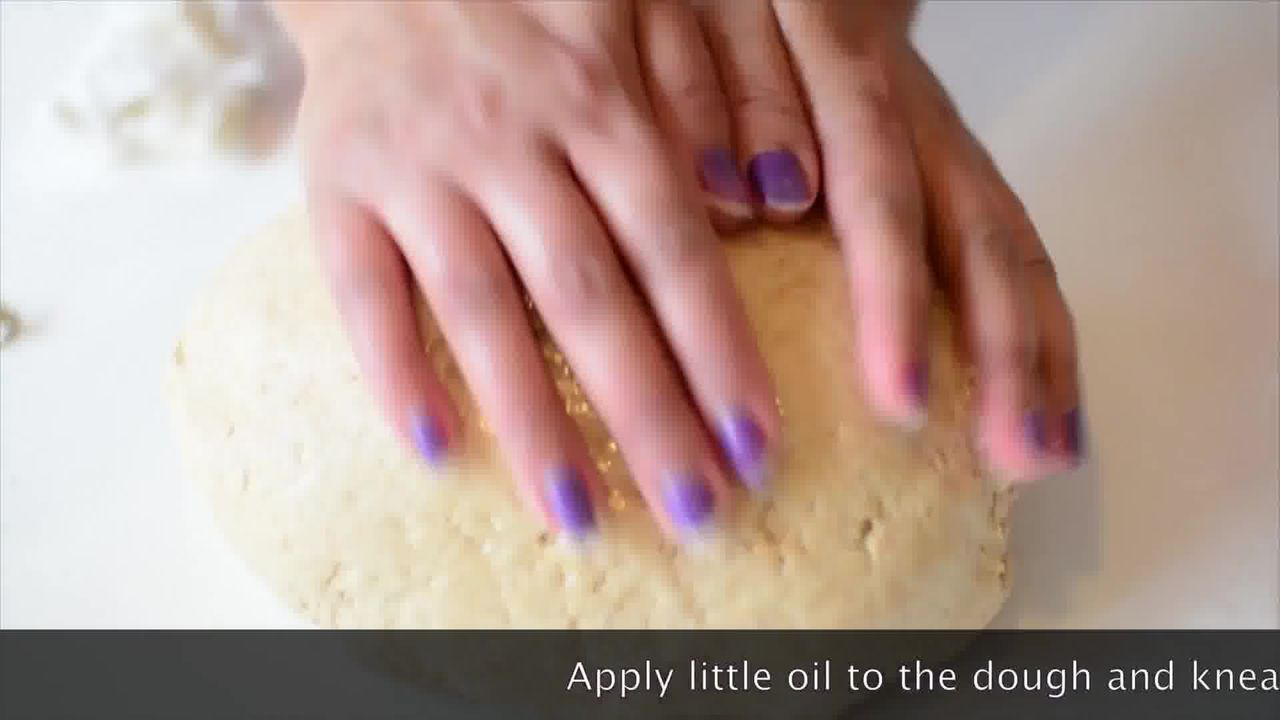 Image of the cooking step-2-3 for Mushroom Kale Stuffed Paratha (Video)