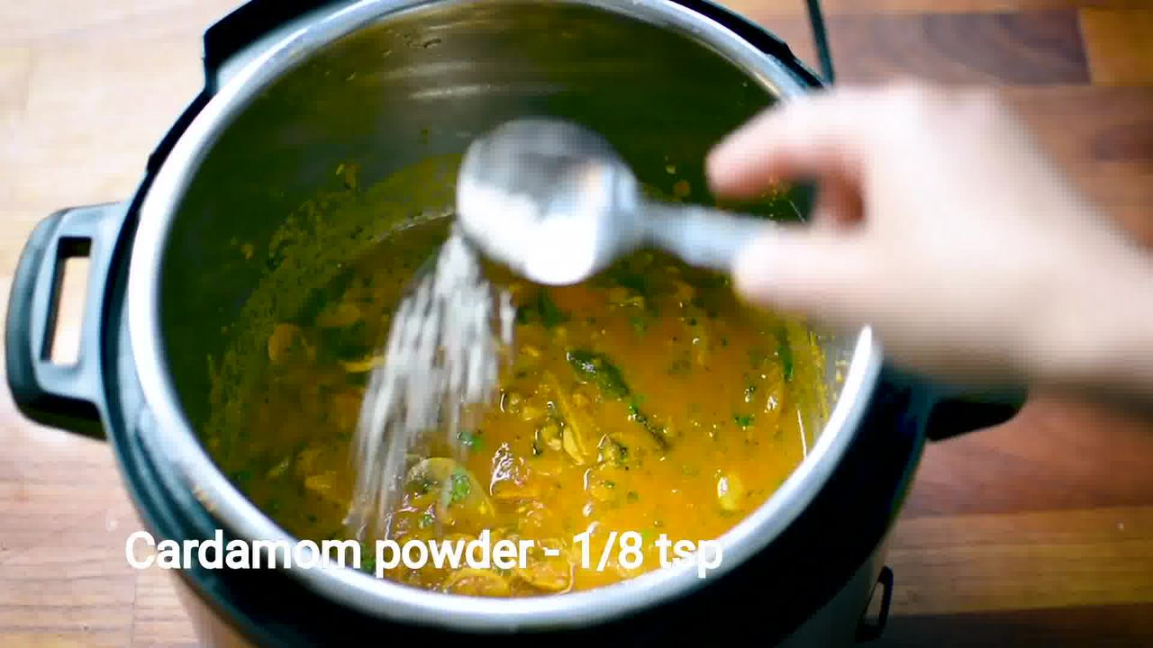 Image of the cooking step-1-15 for Mushroom Masala Curry (Instant Pot + Cooker + Pan)