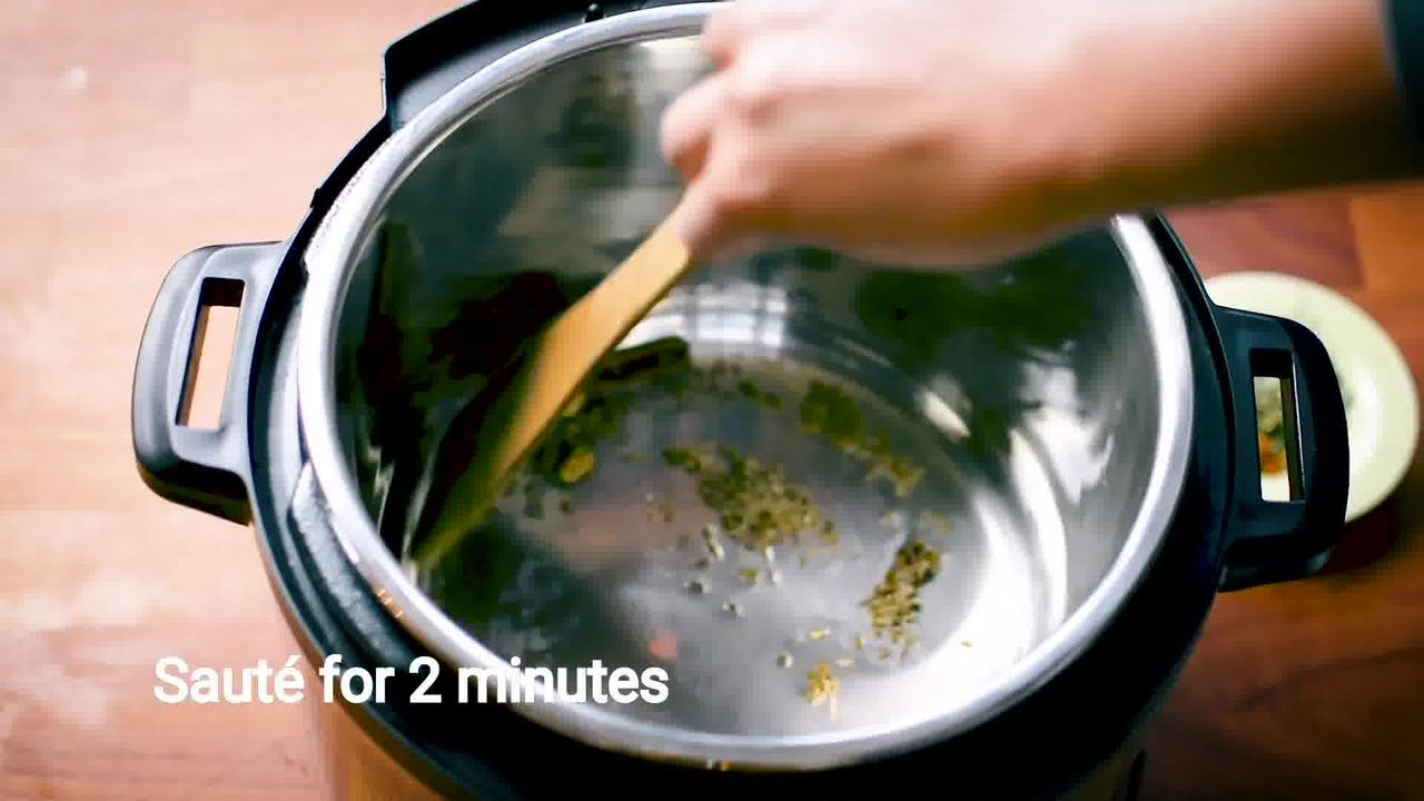 Image of the cooking step-1-3 for Mushroom Masala Curry (Instant Pot + Cooker + Pan)