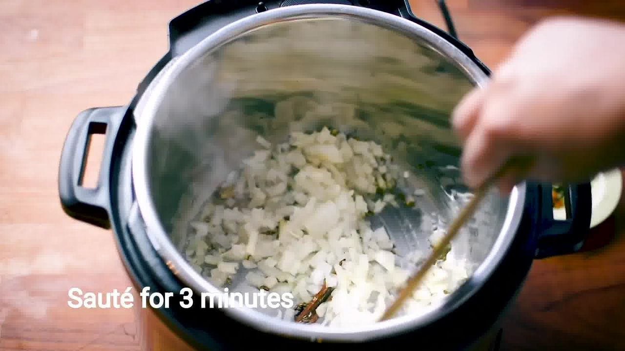 Image of the cooking step-1-4 for Mushroom Masala Curry (Instant Pot + Cooker + Pan)