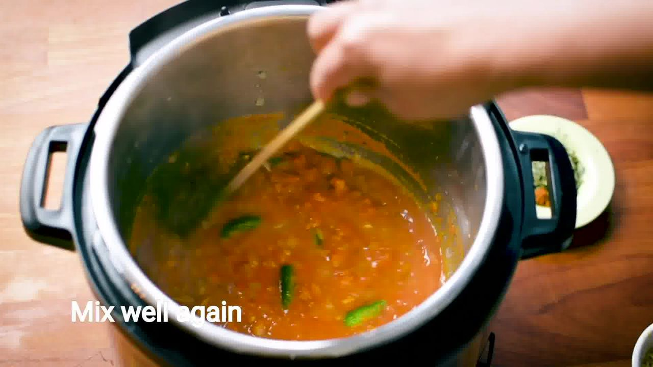 Image of the cooking step-1-9 for Mushroom Masala Curry (Instant Pot + Cooker + Pan)