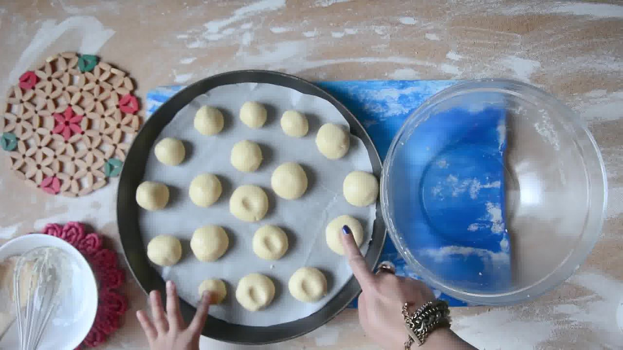 Image of the cooking step-1-8 for Nankhatai Recipe - Indian Shortbread Cookies