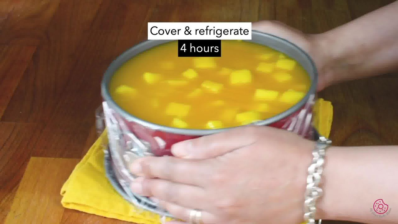 Image of the cooking step-3-7 for No Bake Mango Cheesecake