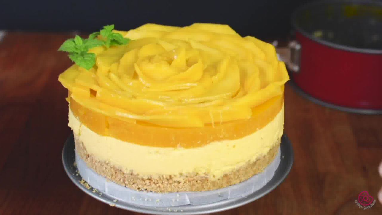 Image of the cooking step-4-2 for No Bake Mango Cheesecake