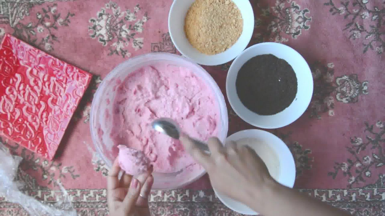 Image of the cooking step-1-7 for No Bake Strawberry Cheesecake Bites