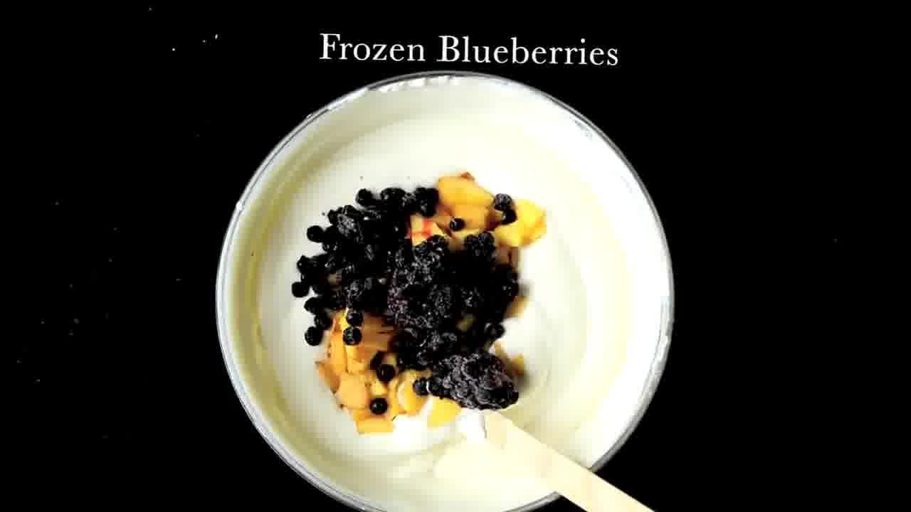 Image of the cooking step-1-3 for No Churn Peach Blueberry Ice Cream (Video)
